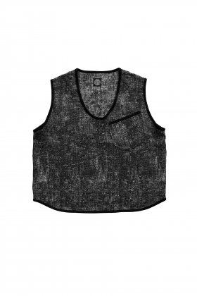 Porter Classic - PEELED CLOTH PULLOVER VEST - BLACK