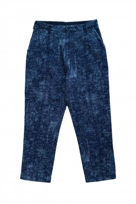 Porter Classic - PEELED CLOTH CROPPED PANTS - BLUE