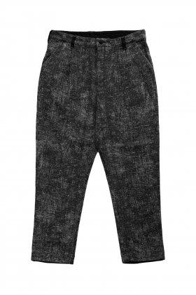 Porter Classic - PEELED CLOTH CROPPED PANTS - BLACK