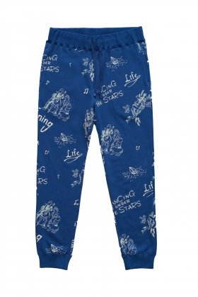 Porter Classic - FLOCKY SWEAT PANTS - BLUE