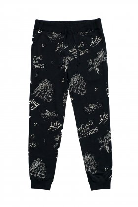 Porter Classic - FLOCKY SWEAT PANTS - BLACK