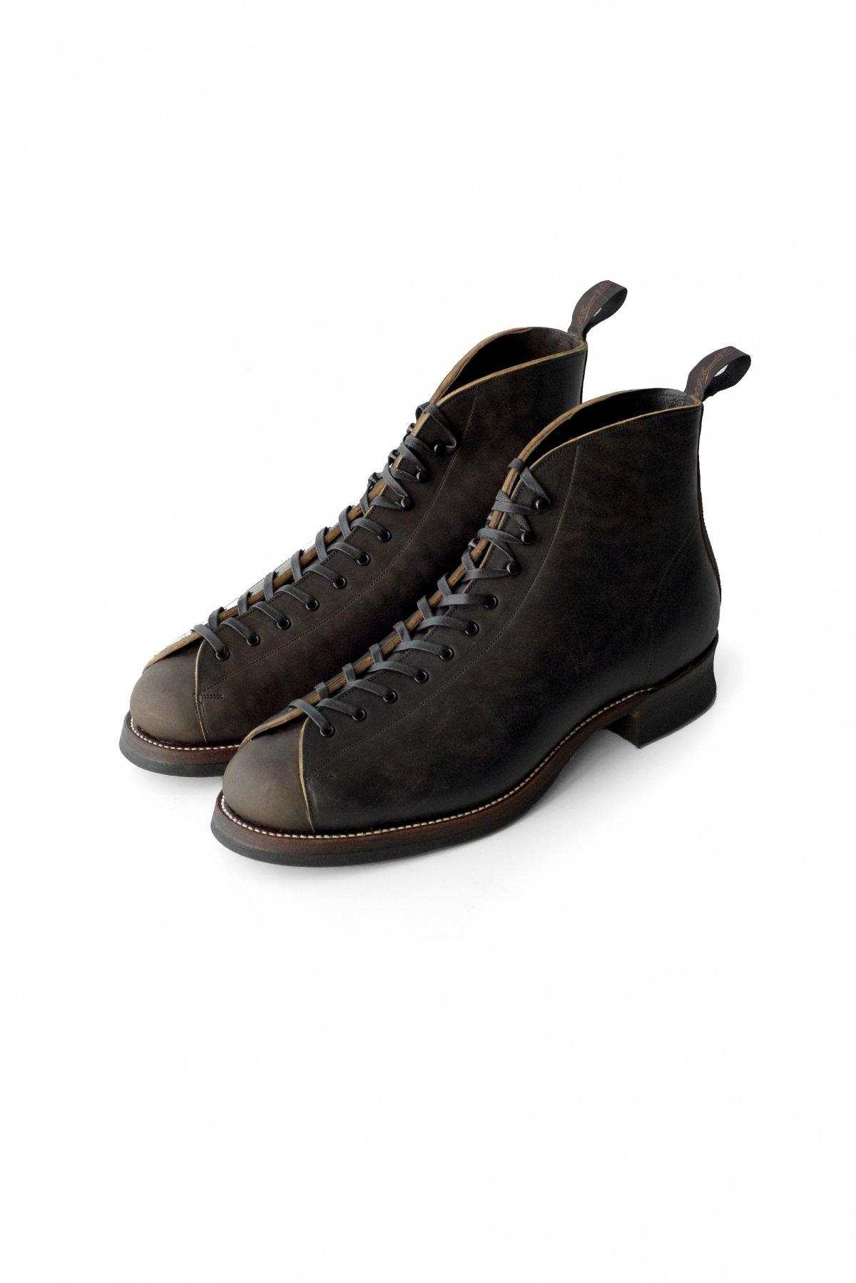 "BOOT - ""The Welder"" HORSEHIDE MONKEY BOOTS - BLACK - PRICE 90,200 tax-in"