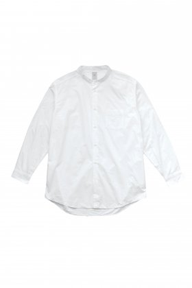 FEIT - BAND COLLAR SHIRT LONG - NATURAL