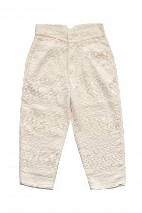 Porter Classic - SASHIKO LINEN PREMIUM CLASSIC PANTS - WHITE