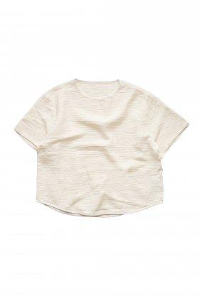 Porter Classic - SASHIKO LINEN PREMIUM SHORT SLEEVE SHIRT - WHITE