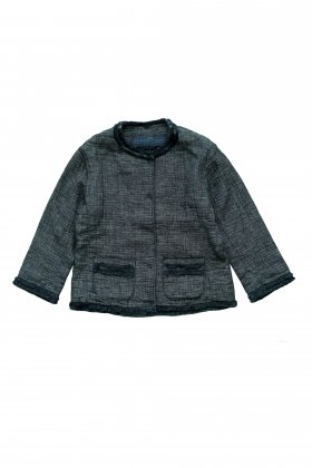 Porter Classic - SASHIKO LINEN PREMIUM CLASSIC JACKET for PC LADIES - BLUE