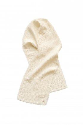 Porter Classic - SASHIKO LINEN PREMIUM SOFT STOLE - WHITE