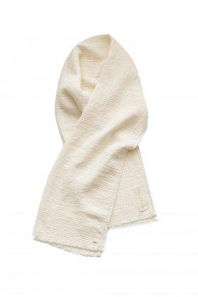 Porter Classic - SASHIKO LINEN PREMIUM SOFT STOLE(L)- WHITE