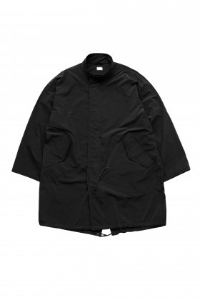 Porter Classic - SUPER NYLON STRETCH MILITARY COAT - BLACK