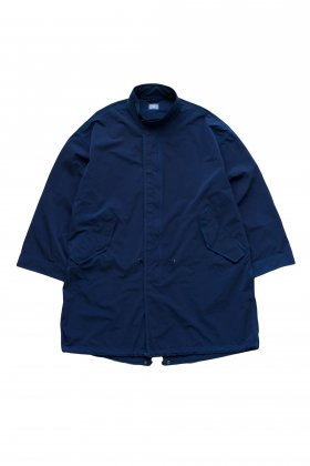Porter Classic - SUPER NYLON STRETCH MILITARY COAT - BLUE