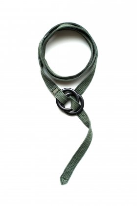 Porter Classic - SUPER NYLON MASH RING BELT - OLIVE