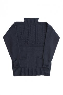 Nigel Cabourn - GUERNSEY SWEATER - DARK NAVY