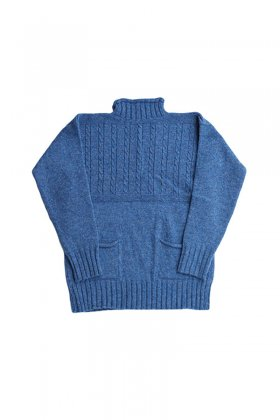 Nigel Cabourn - GUERNSEY SWEATER - BLUE