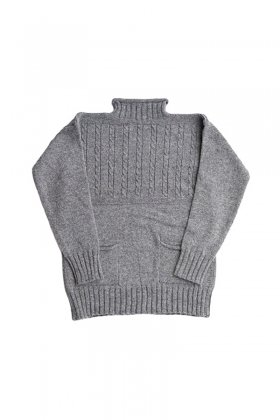 Nigel Cabourn - GUERNSEY SWEATER - GRAY
