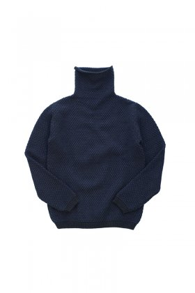 "humoresque ★★★ - CASHMERE TURTLE NECK KANOKO ""Phaeton Exclusive"" - NAVY BLACK"
