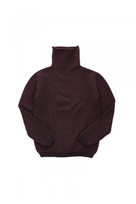 "humoresque ★★★ - CASHMERE TURTLE NECK KANOKO ""Phaeton Exclusive"" - PURPLE BROWN"