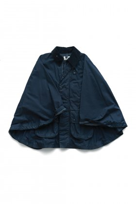 OLD JOE - OILED CLOTH RIDING PONCHO JACKET - BLACK NAVY