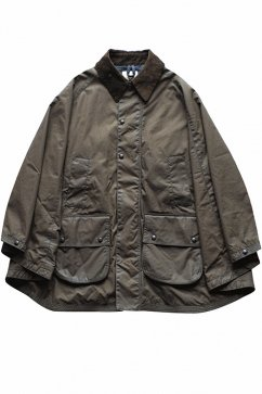 OLD JOE - OILED CLOTH RIDING PONCHO JACKET - BRITISH GREEN