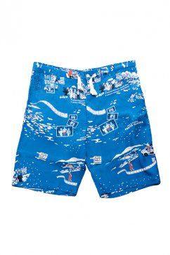 Porter Classic - ALOHA SHORTS- BLUE