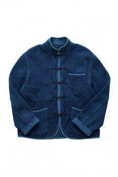 Porter Classic - KENDO CHINESE JACKET - INDIGO BLUE