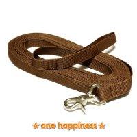 ☆one happiness☆ ロング リード (茶) 10m M 中型犬
