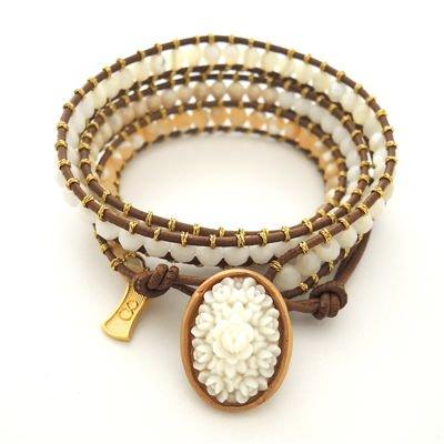 Vintage Cabochon Wrap Bracelet #E-217