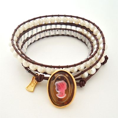 Vintage Cameo Wrap Bracelet #E-222