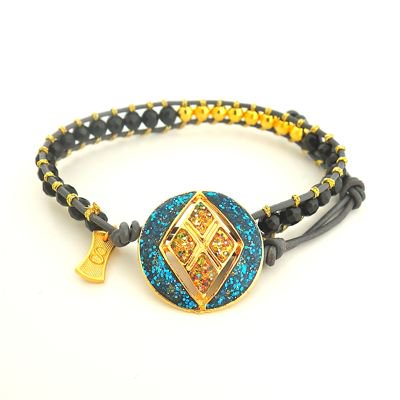 Vintage Button Wrap Bracelet #E-253