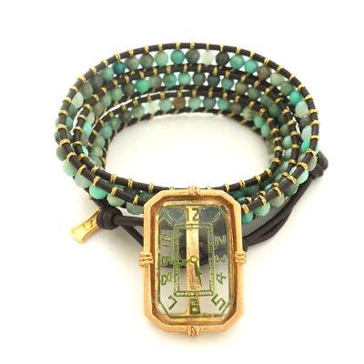 Vintage Intaglio Wrap Bracelet #E-261
