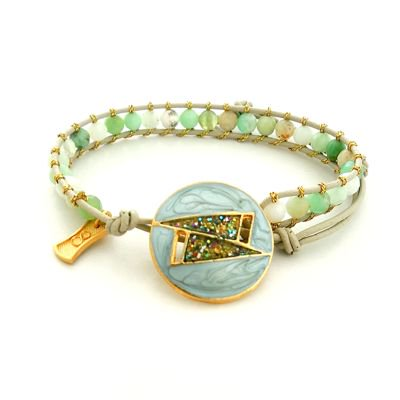 Vintage Button Wrap Bracelet #E-266