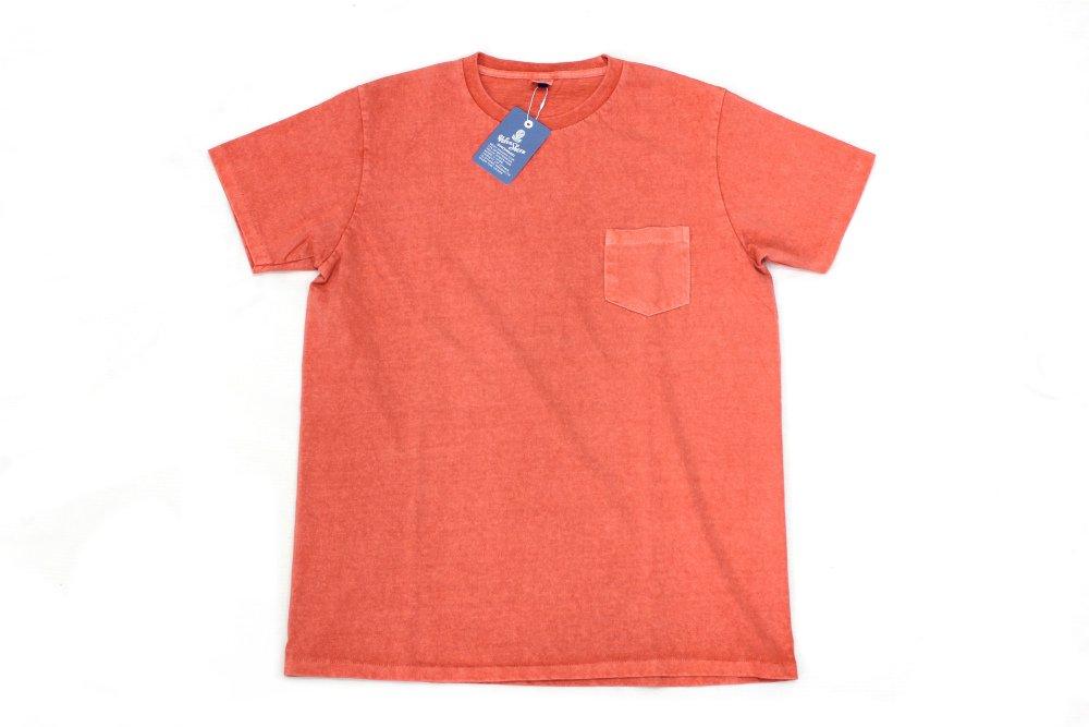 Velva Sheen Pigment Dye Crew Neck T-Shirts  RED