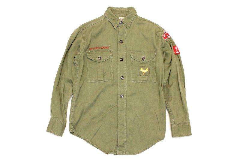 70's アメリカ ボーイスカウトシャツ キッズ ミリタリー