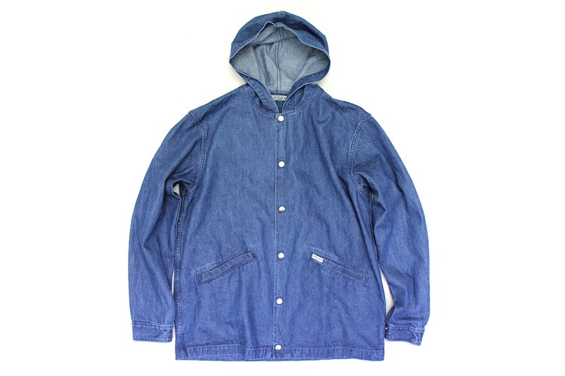 【SUGAR CANE LIGHT】10oz. NEP DENIM COACH JACKET ネップデニムコーチジャケット  Col.BLUE