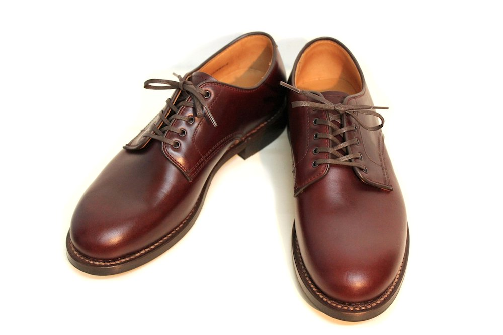 【WHEEL ROBE】PLAIN TOE BLUCHER OXFORD  Col.BURGUNDY