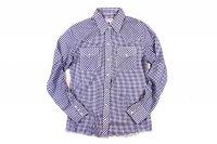 70's WRANGLER ウエスタン ギンガムチェックシャツ 表記34