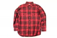80's L.L.Bean  チェック コットンシャツ 赤  実寸M-L