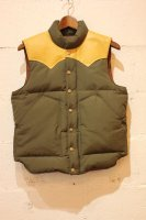 [30%OFF]【SUGAR CANE/ シュガーケーン】NYLON/COTTON LEATHER YOKE DOWN VEST