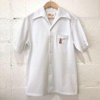 70's 【LIBERTY HOUSE / リバティーハウス】刺繍 開襟 ハワイアン 半袖ポリシャツ M