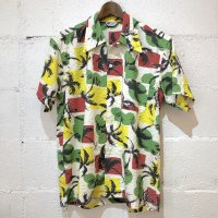 20%OFF【Attractions】S/S PALM S.SUCKER SHIRT  パーム シアサッカーシャツ GREEN
