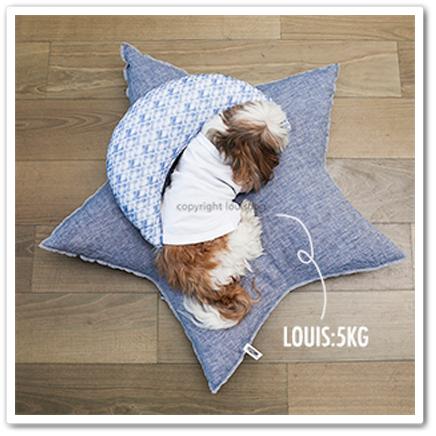 【Louisdog】Linen Star Cushion