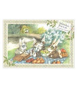 ダヤン わちふぃーるどのDAYANシリーズ!  猫のダヤンのポストカード 川辺のピクニック