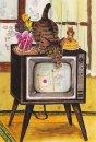 琴坂映理 ポストカード032 カラーテレビがやってきた!