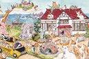 琴坂映理 ポストカード 「猫の島小学校」