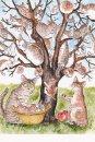 琴坂映理 ポストカード040 枯れ木に猫を咲かせましょう
