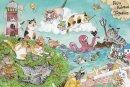 琴坂映理 ポストカード 「一度はおいでよ猫の島」