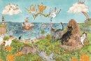 琴坂映理 ポストカード 「猫の島に春が来た!」