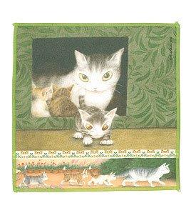 ダヤン わちふぃーるどのDAYANシリーズ!  猫のダヤンのメガネ拭き トムと3匹の子猫