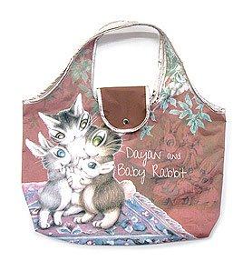 ダヤン わちふぃーるどのDAYANシリーズ!  猫のダヤンのアートエコバッグ うさぎの赤ちゃん