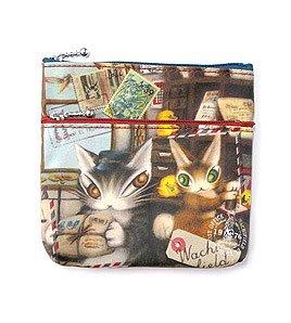 ダヤン わちふぃーるどのDAYANシリーズ!  猫のダヤンのWミニポーチ 郵便の仕分け