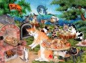 琴坂映理 ポストカード103 トパゾン島のパン祭り